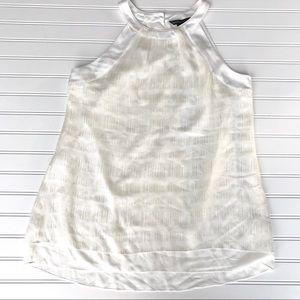 White House Black Market Silk Blouse Metallic, 8